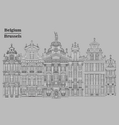 grand place in brussels belgium grey vector image