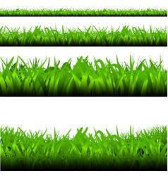 Green grass frame bottom set vector