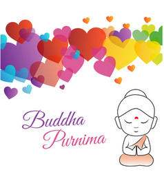 Happy buddha purnima or vesak day vector