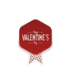 Happy Valentines Day red greeting Banner vector