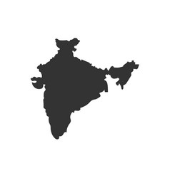 India map with shadow vector
