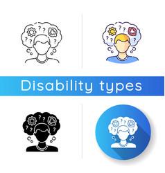 Intellectual disability icon vector