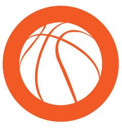 isolated basketball ball icon vector image
