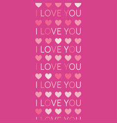 love background symbol heart i love you vector image