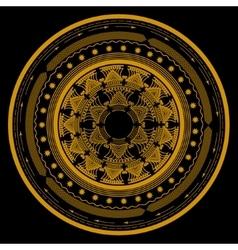 mandala symbol in a circle consisting of several vector image