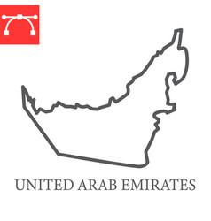 Map united arab emirates line icon vector