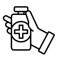 Medical disinfect icon outline style vector