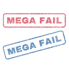 Mega fail textile stamps vector