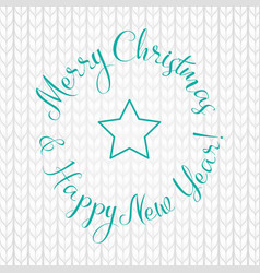 merry christmas and happy new year lettering write vector image