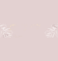 Modern chic feminine stylish banner template with vector