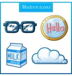 Modern icons set vector image