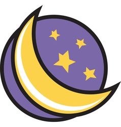 Moon night logo vector