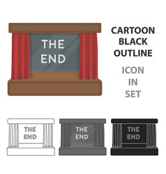 movie screen icon in cartoon style isolated on vector image