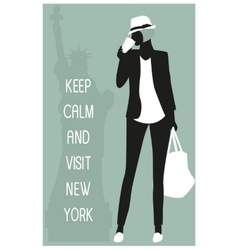 New york travel card vector