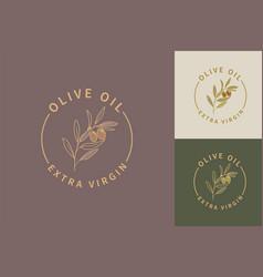 olive oil extra virgin logos vector image