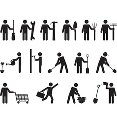 People pictogram activities vector