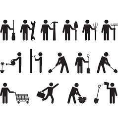 People pictogram activities vector image