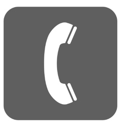 Phone Receiver Flat Squared Icon vector