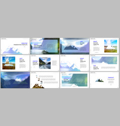 presentations design templates background vector image