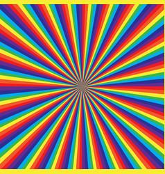 Rainbow swirl pattern abstract art vector