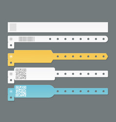 Realistic bracelets mockup identification paper vector