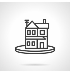 Rent property simple line icon housing vector