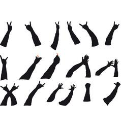 rock gestures vector image