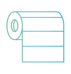 roll paper towel in degraded green to blue color vector image