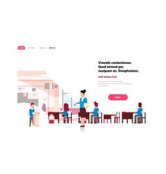 school children group with female teacher lesson vector image