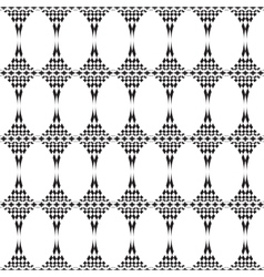 Seamless texture mosaic endless pattern Black and vector image
