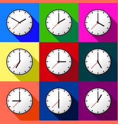 set clock icon design eps10 vector image