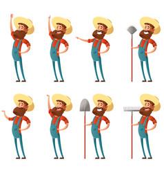 Set of farmer icons vector