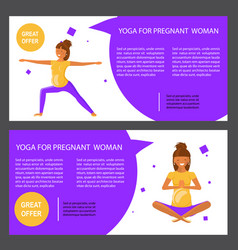 set with pregnant women vector image