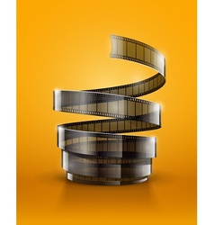 Spiral of cinematography film vector