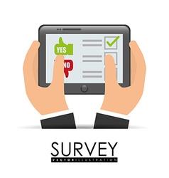 Survey design illlustration vector