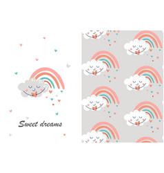 sweet dreams concept vector image