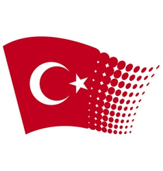 Turkey flag vector