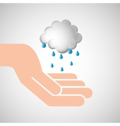 Weather concept forecast cloud rain icon design vector