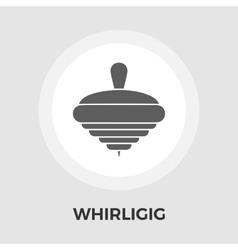 Whirligig flat icon vector