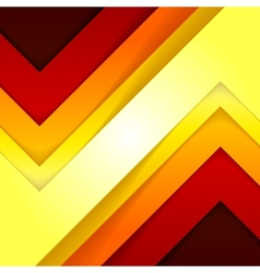 Abstract red and orange triangle shapes background vector image vector image