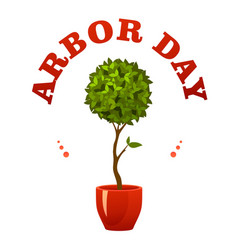 arbor day sign vector image