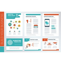 content marketing report book cover and vector image