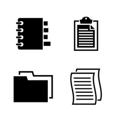 documents simple related icons vector image vector image