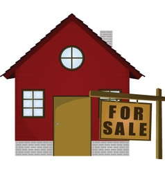 Home for sale icon vector image