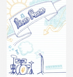 live music doodle vector image vector image