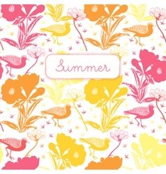 Vintage Summer Floral Pattern vector image vector image