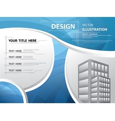 abstract blue template vector image vector image