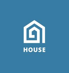 Letter a real estate house logo icon design vector