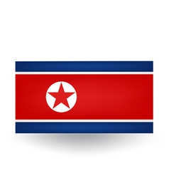 North Korea Flag vector image vector image
