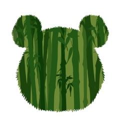 Panda Head Silhouette vector image vector image